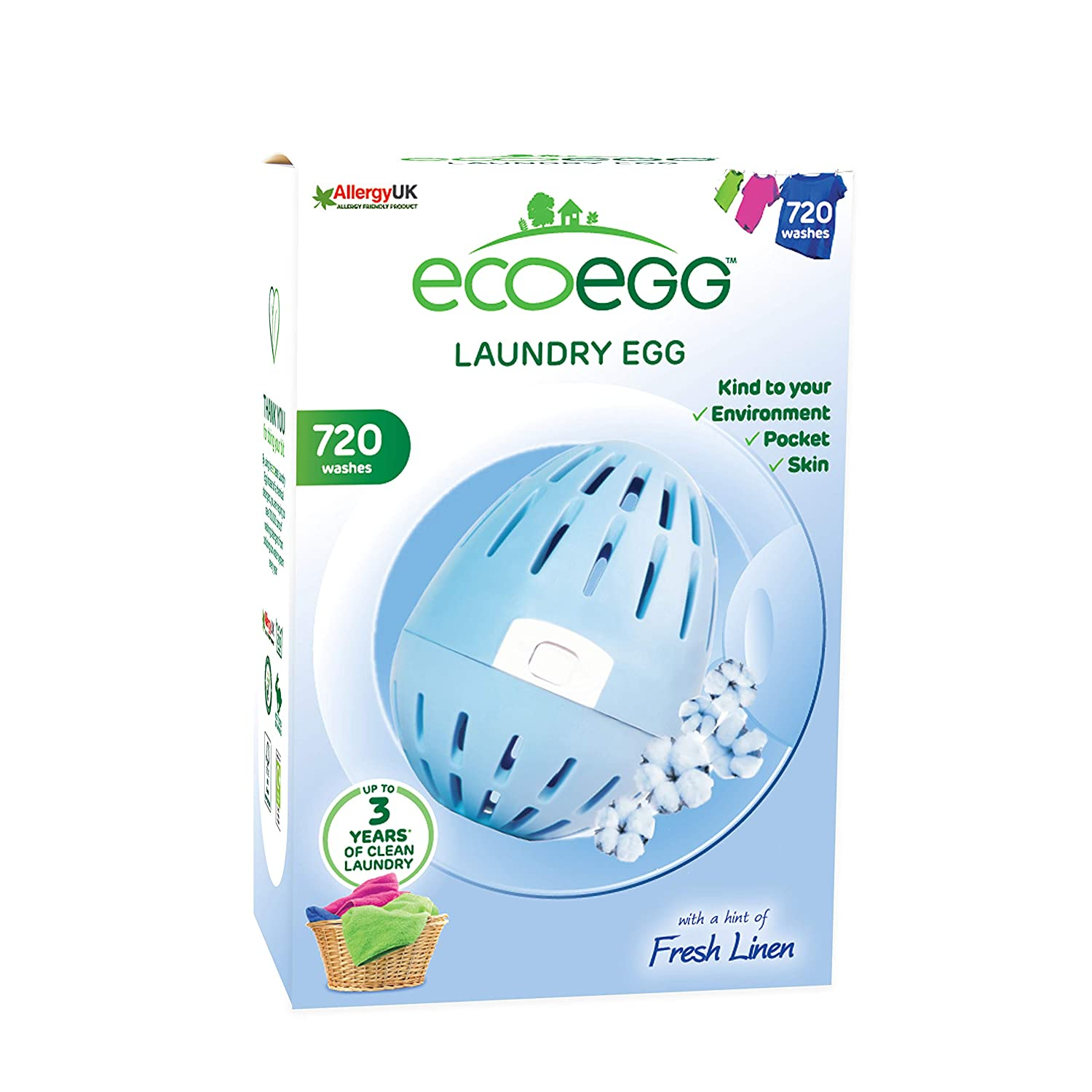 Ecoegg Laundry Egg, 720 Loads, Fresh Linen