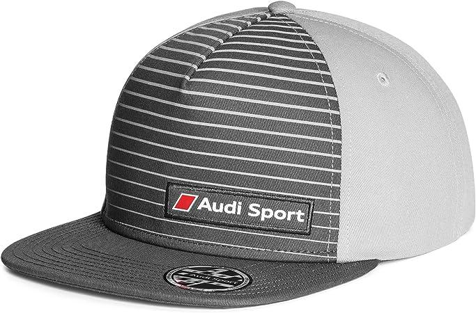 Audi 3131802400 Snapback Cap Basecap Mütze Sport Kappe 57 62cm Grau Auto
