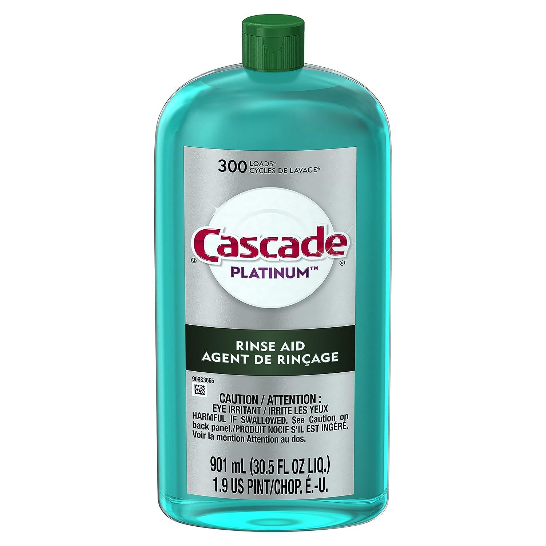 Cascade Rinse Aid, Dishwasher Rinse Agent, Original Scent 30.5 Fl Oz 3700027283