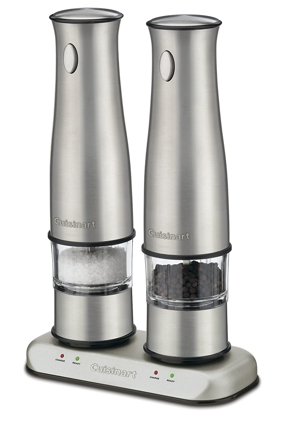 salt and pepper shaker cabinet amazoncom cuisinart sp2 stainless steel rechargeable salt and pepper mills electric and grinder set kitchen dining