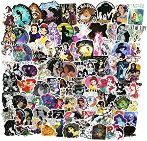 100pcs Cartoon Sweet Princess Anime Stickers Laptop Computer Bedroom Wardrobe Car Skateboard Motorcycle Bicycle Mobile Phone Luggage Guitar DIY Decal (Cartoon Princess)