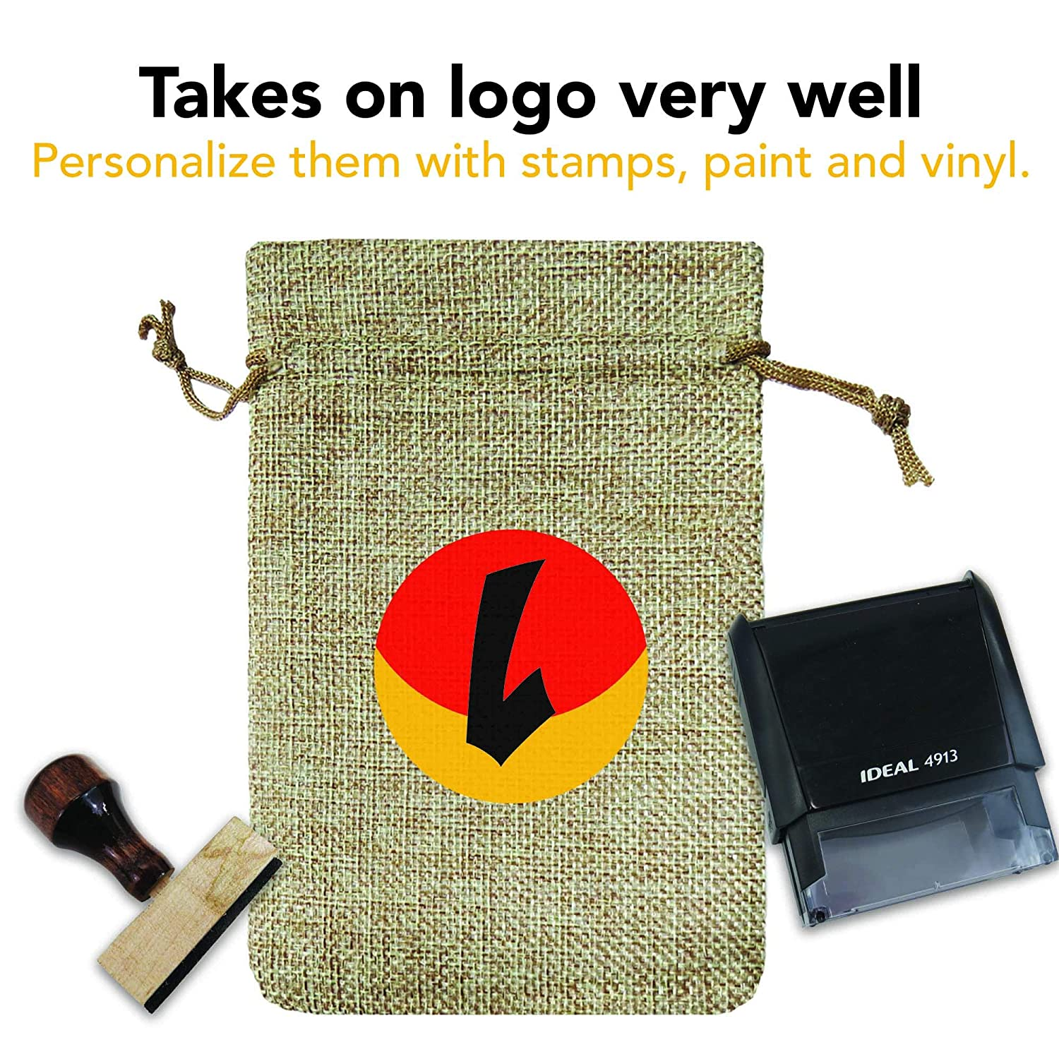Jute Drawstring Bags for Party Favors !RAKRISA 25 Pcs 3x4 Inch Burlap Bags With Drawstring Wedding Party Favor /& Gifts