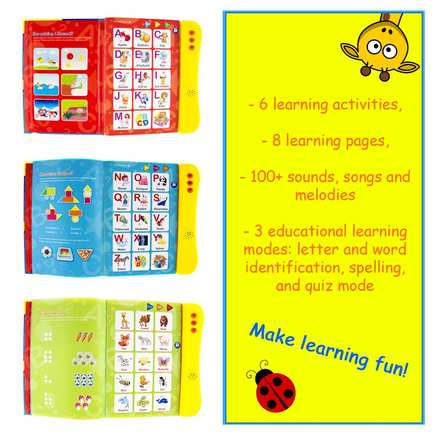 Amazon Abc Sound Book For Children English Letters Words