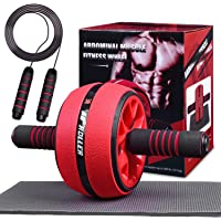 Jungle Ab Roller Wheel Workout Equipment - Ab Roller Wheel for Abdominal Exercise,Home Workout Equipment,Fitness Ab…