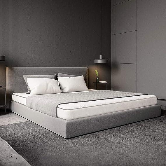 MiaSuite Primavera H12 - Colchón para cama, poliuretano, Blanco, 120 x 190 cm