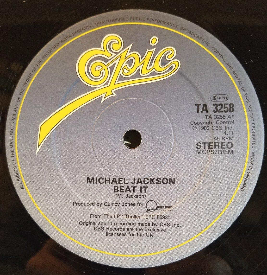 Michael Jackson - Michael Jackson - Beat It - Epic - EPCA 3184, Epic - A-3184 - Amazon.com Music