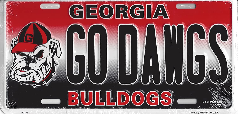 Georgia Bulldogs Logo Crystal Mirror License Plate