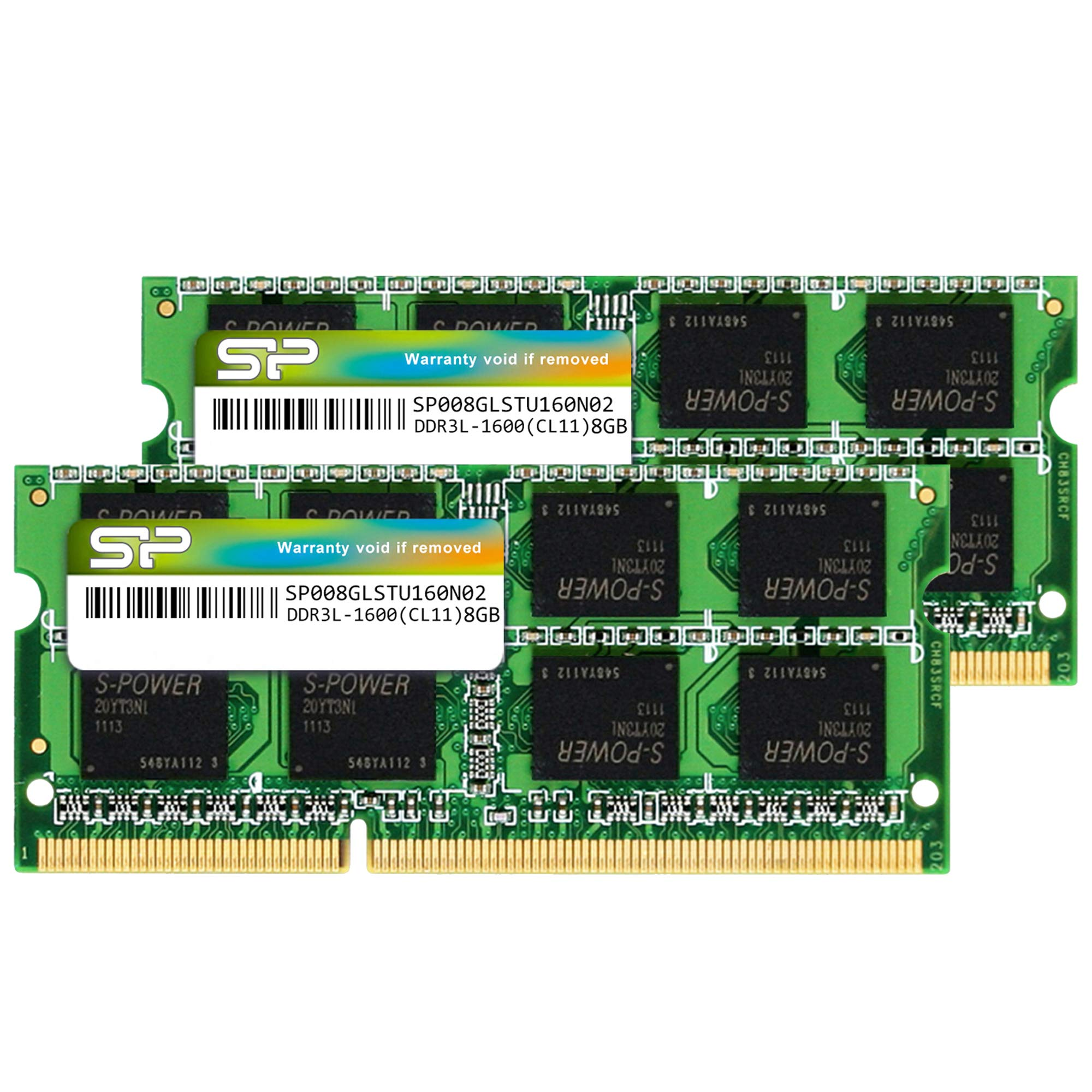 Silicon Power Hynix IC 16GB (2 x 8GB) Compatible for Apple DDR3L RAM 1600MHz (PC3 12800) 204 pin CL11 1.35V Non ECC Unbuffered SODIMM Laptop Memory Module - Low Voltage by SP Silicon Power