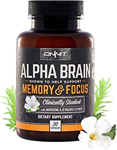Free Onnit Alpha Brain (30ct) Nootropic Brain Booster…
