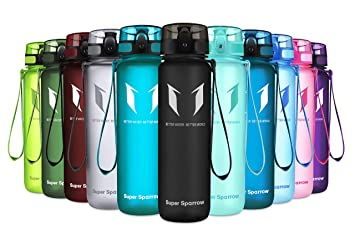Amazon.com: Super Sparrow Botella de agua deportiva de 12 ...