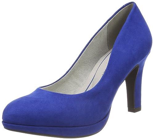 22417, Zapatos de Tacón para Mujer, Azul (Royal), 37 EU Marco Tozzi