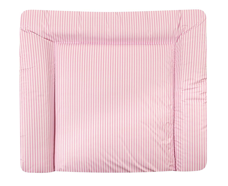 Julius Zöllner 2220120102 Wickelauflage Softy 75/85, Streifen, rosa
