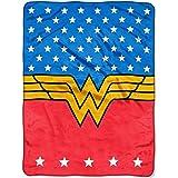 DC Comics DC Wonder Woman 46x60 Plush Throw Blanket, 46Wx60L, Blue, Red, White, Yellow