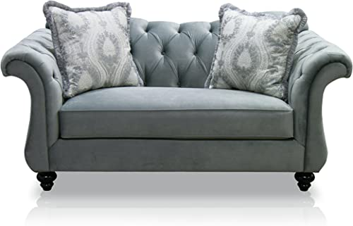Furniture of America Ivorah Glamorous Love Seat