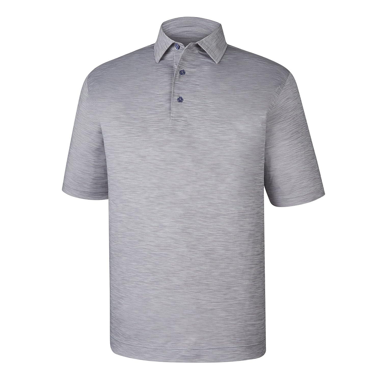 メンズFootjoy Lisle Space Dyed Self Collarシャツ B07DFKSCW8 Medium|グレー グレー Medium