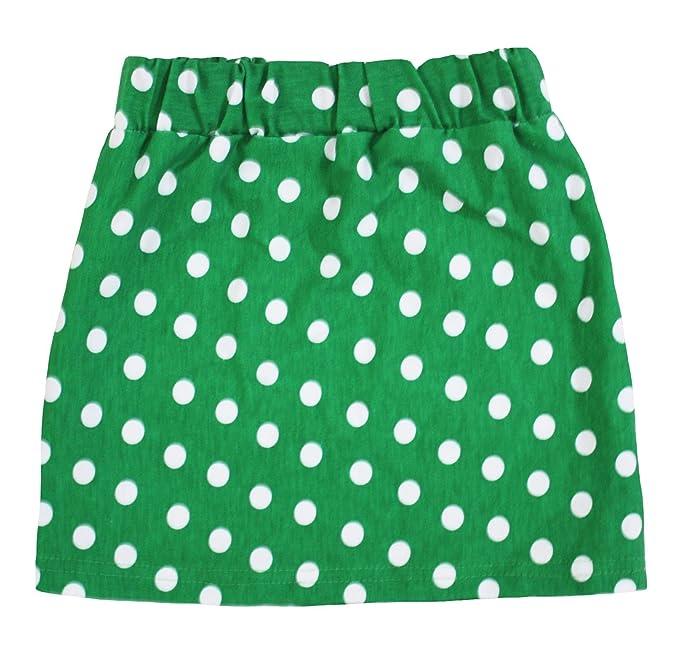 petitebella blanco lunares verde algodón falda para niña 1 - 8Y ...