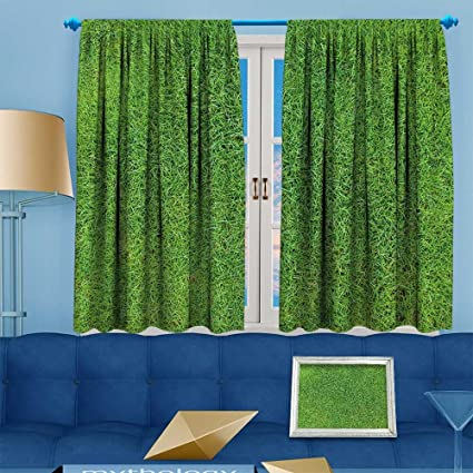 green grass soccer field. Muyindohome Thermal Insulated Window Curtains Green Grass,Soccer Football Field  Stadium Grass Set Of Two Green Soccer I