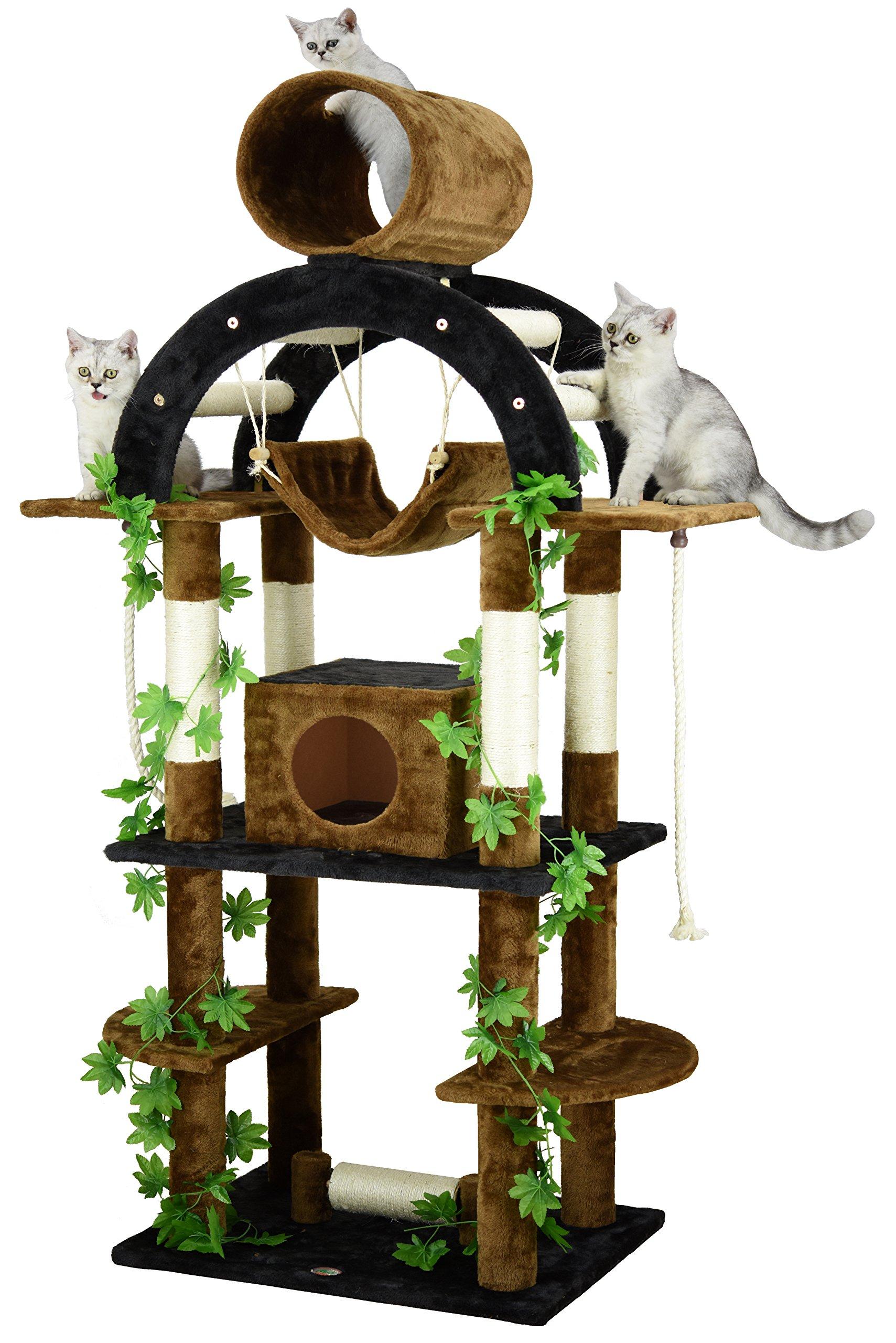 Go Pet Club F2096 Luxury Climber Cat Tree, 71''