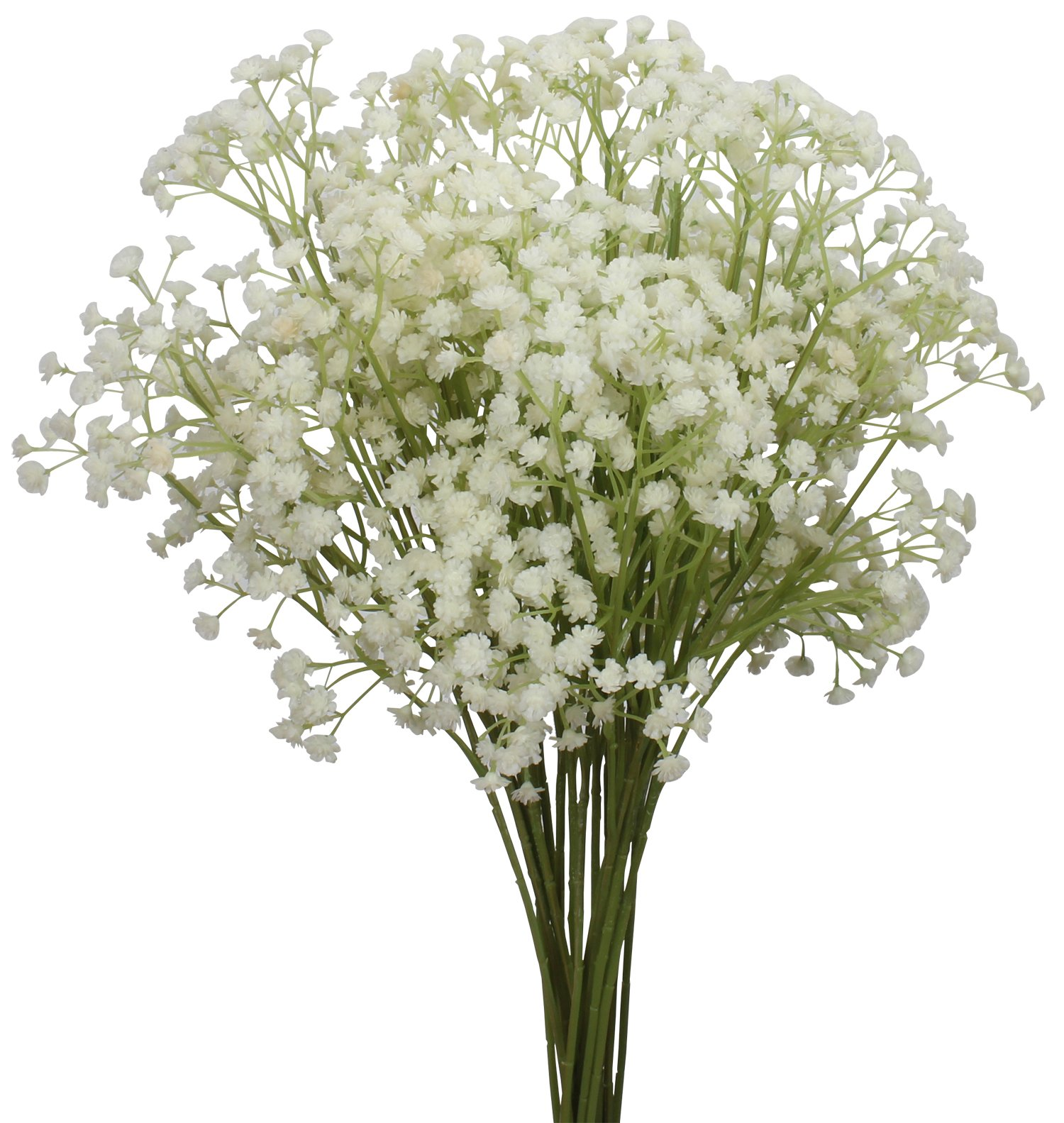 Duovlo 10pcs Babies Breath flowers 23.6'' Artificial Gypsophila Bouquets Real Touch Flowers For Wedding Home DIY Decor