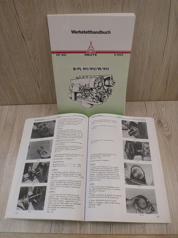 Deutz Werkstatthandbuch Dieselmotor 912 F3L912 für Traktor D4006
