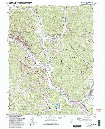 Amazon Com Yellowmaps Nelsonville Oh Topo Map 1 24000 Scale 7 5