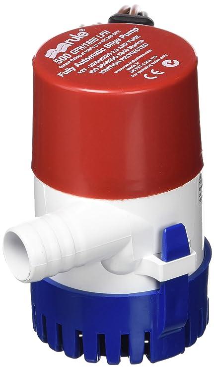 Rule 25s Submersible Bilge Pump 500 Gallon Per Hour 12 Volt Dc