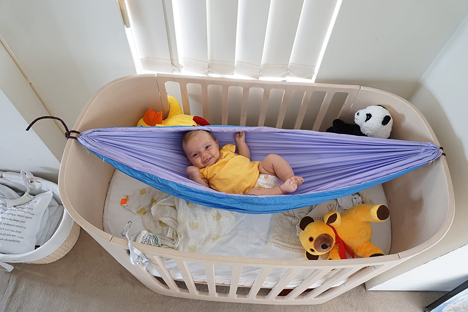 Baby crib hammock - Amazon Com Hammock Bliss Sky Baby Hammock The Idea Solution For Putting Baby To Sleep Use In The Crib Or On The Go Patio Lawn Garden