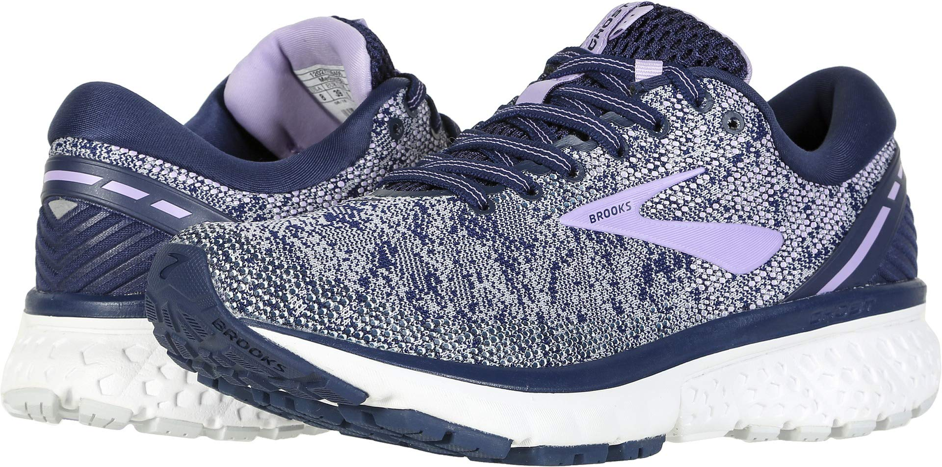 Brooks Women's Ghost 11 Navy/Grey/Purple Rose 5 B US
