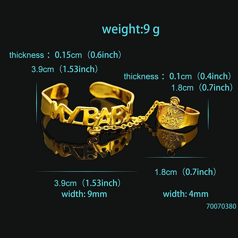 ZHX New Stores Open Big Baby Bracelets Gold Kids Jewelry Pulsera Bebe Pulseira Ouro Braclet Bangle Bracciali Bambino Bracelete Ninas Teen Girl Multi-Color My Girl