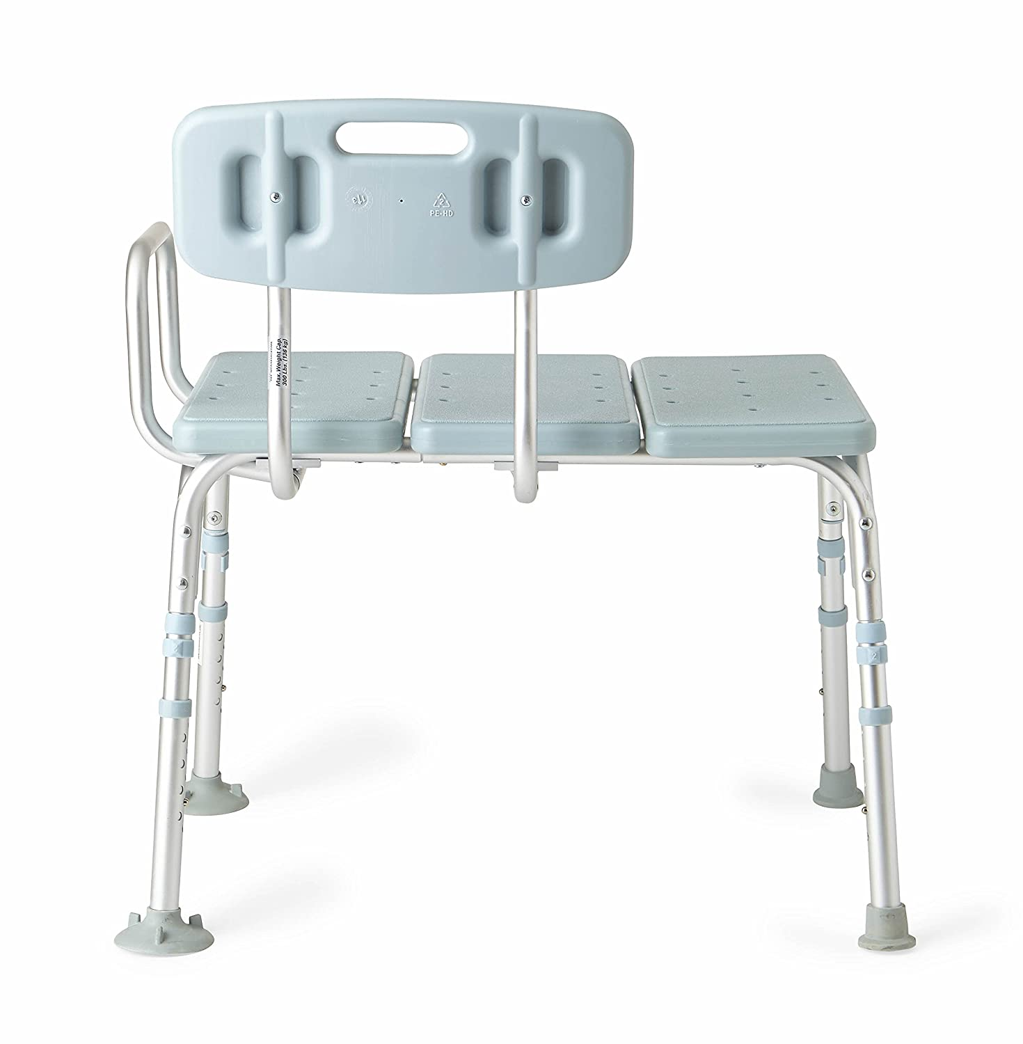 Amazon.com: Medline Transfer Bench with Back, Knockdown, Microban: Health &  Personal Care