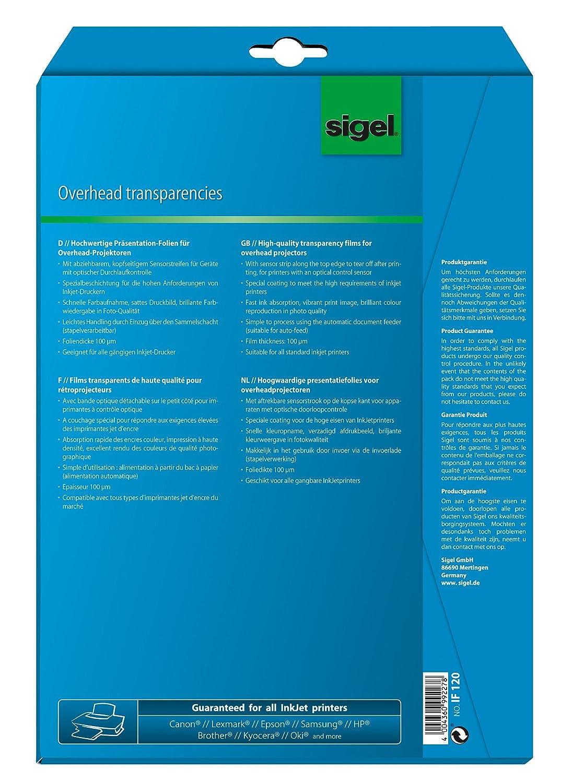 Sigel IF120 Film Inkjet Trasparente