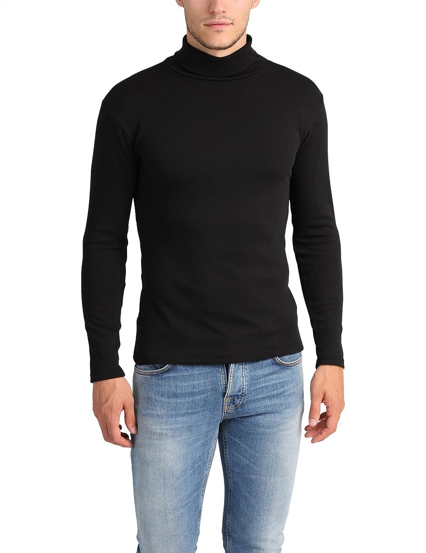 Lower East Herren Slim Fit Rollkragen Shirt