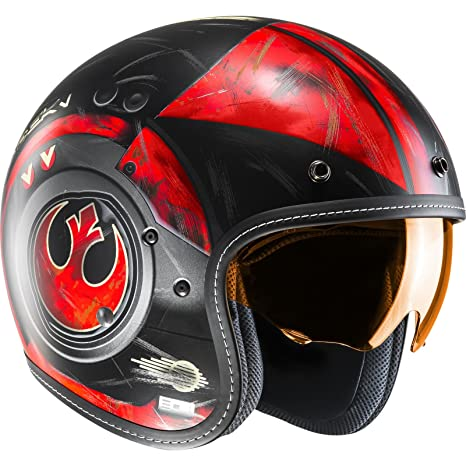 Amazon.es: Casco Abierto Moto Hjc Star Wars Fg-70 Dameron Rojo (L, Rojo)