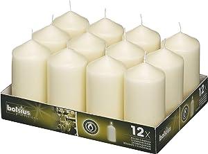 Bolsius Basic Candles for Decoration dimensione Cero singolo: h 11.8 cm Ø5.8cm Ivory (RAL 1013)