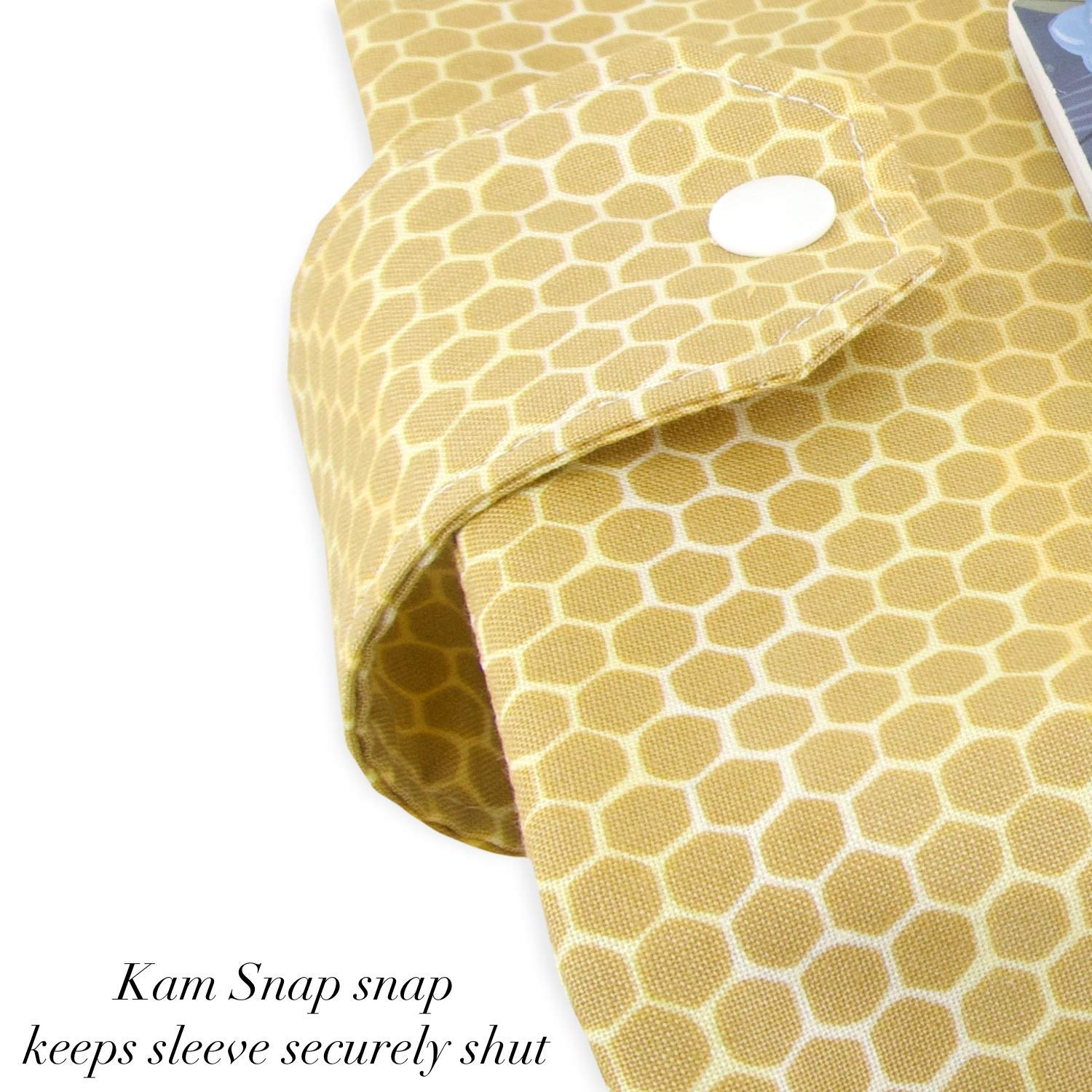 Great Book Lover Gift Bee Fabric Book Sleeve Perfect For Hardbacks Or Large Paperbacks Padded