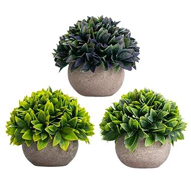 Artificial Plants Fake Plants For Plant Decor - Good Quality, Cute, Realistic Desk Plant - Small Artificial Plants Fake Plant Artificial Plant For Home Decor Faux Plant Feaux (Green Yellow Blue Leaf)