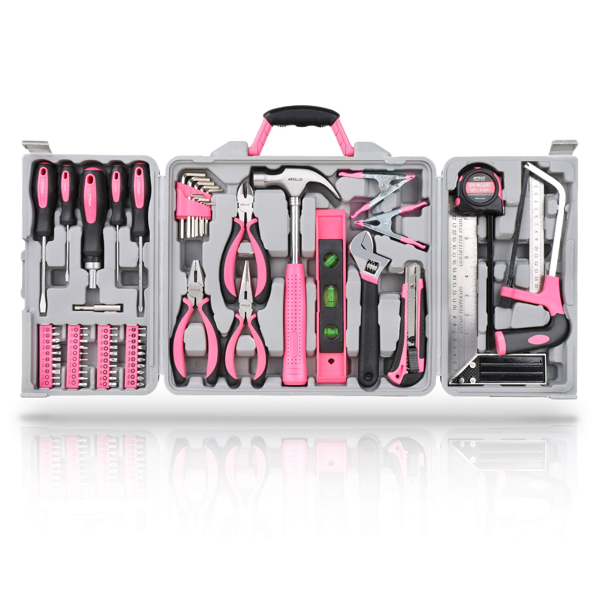 Hi-Spec 42 Piece Household DIY Hand Tool Kit Set All in a Carry Case Everyday Repairs at Home /& The Office with Practical Tools /& Precision Screwdriver Bits