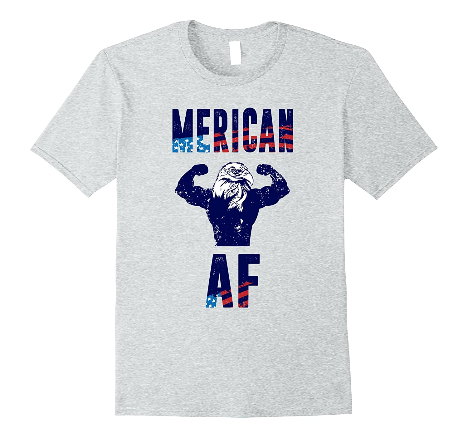 American AF American Eagle Shirt with American Flag-PL