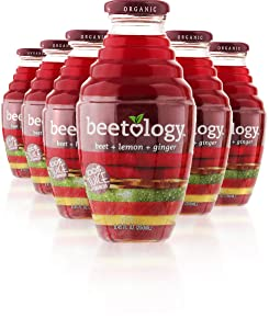 Beetology Organic Beet, Lemon and Ginger Juice 8.45oz (6 Pack)