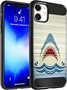 """CasesOnDeck Case Compatible with (Apple iPhone 11 / iPhone XI (2019) 6.1""""), Slim Precise Fit TPU Case, Scratch Protection and Unique Design (Shark Attack)"""