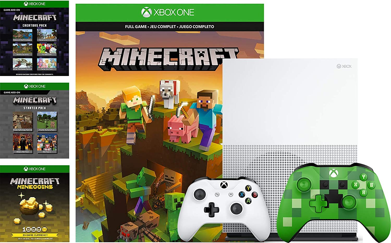 Microsoft Xbox One S 10TB Minecraft Creators Bundle: 100 Minecoins