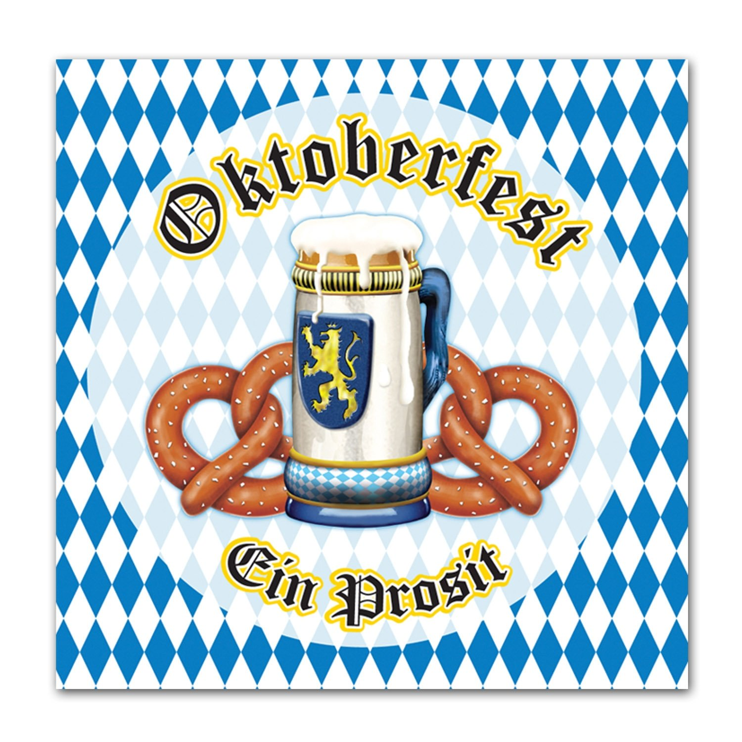 Beistle Oktoberfest Luncheon Napkins (2-Ply) Party Accessory (1 count) (16/Pkg) 58109