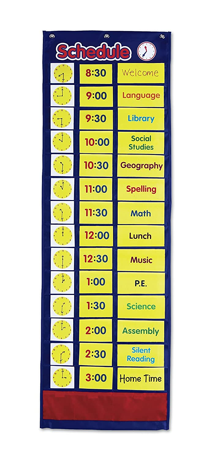 Amazon com learning resources daily schedule pocket chart
