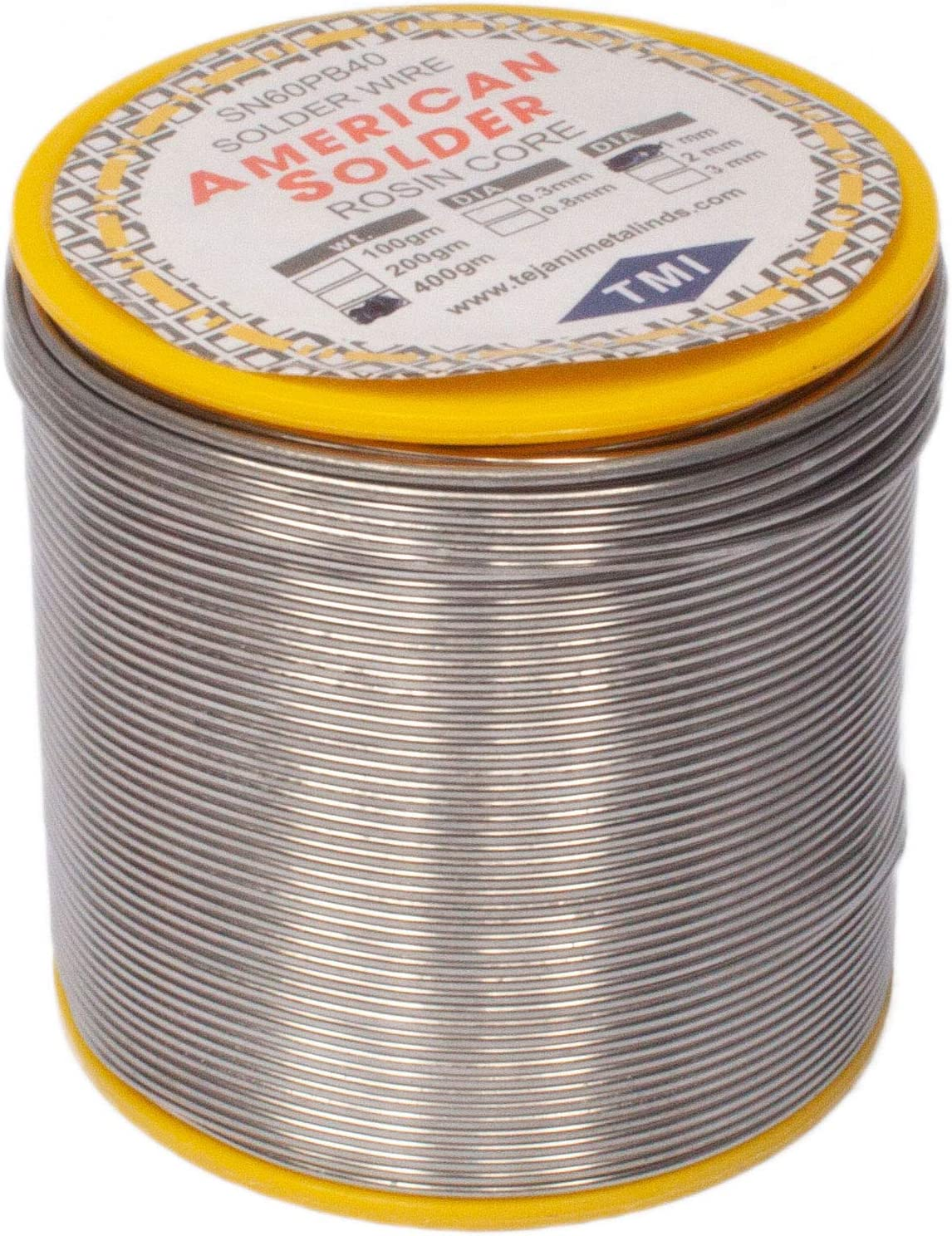 New 400G 1mm 60//40 Tin Lead Solder Rosin Flux Wire Roll Soldering USA