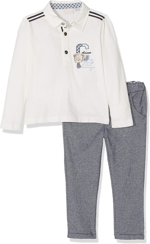 Chicco Completino Polo Pantaloni Lunghi Abito-Set di Vestiti Bimbo
