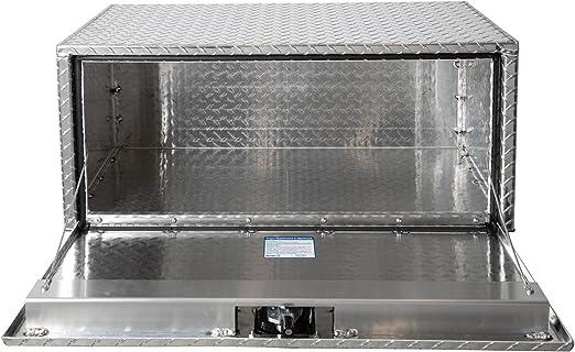 Buyers Products Diamond Tread Aluminum Underbody Truck Box w//T-Handle Latch 14x12x30 Inch