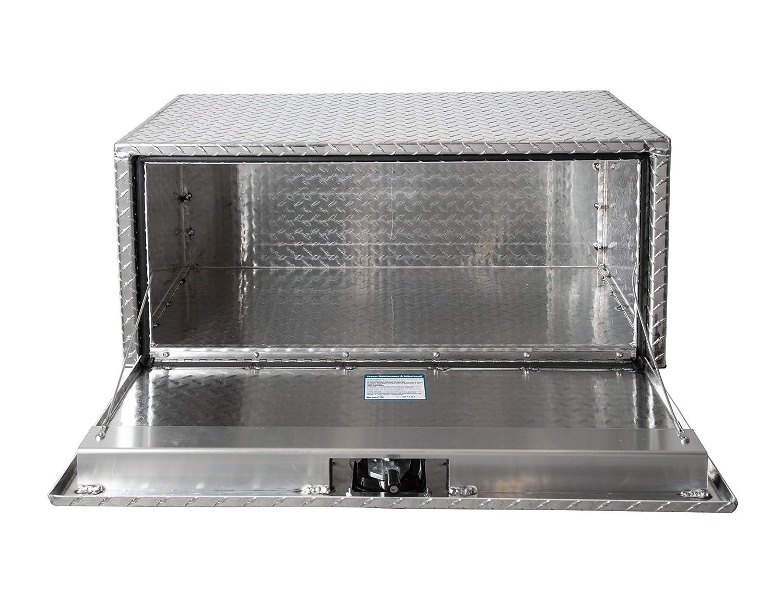 Buyers Products Diamond Tread Aluminum Underbody Truck Box w// T-Handle Latch 18x18x48 Inch