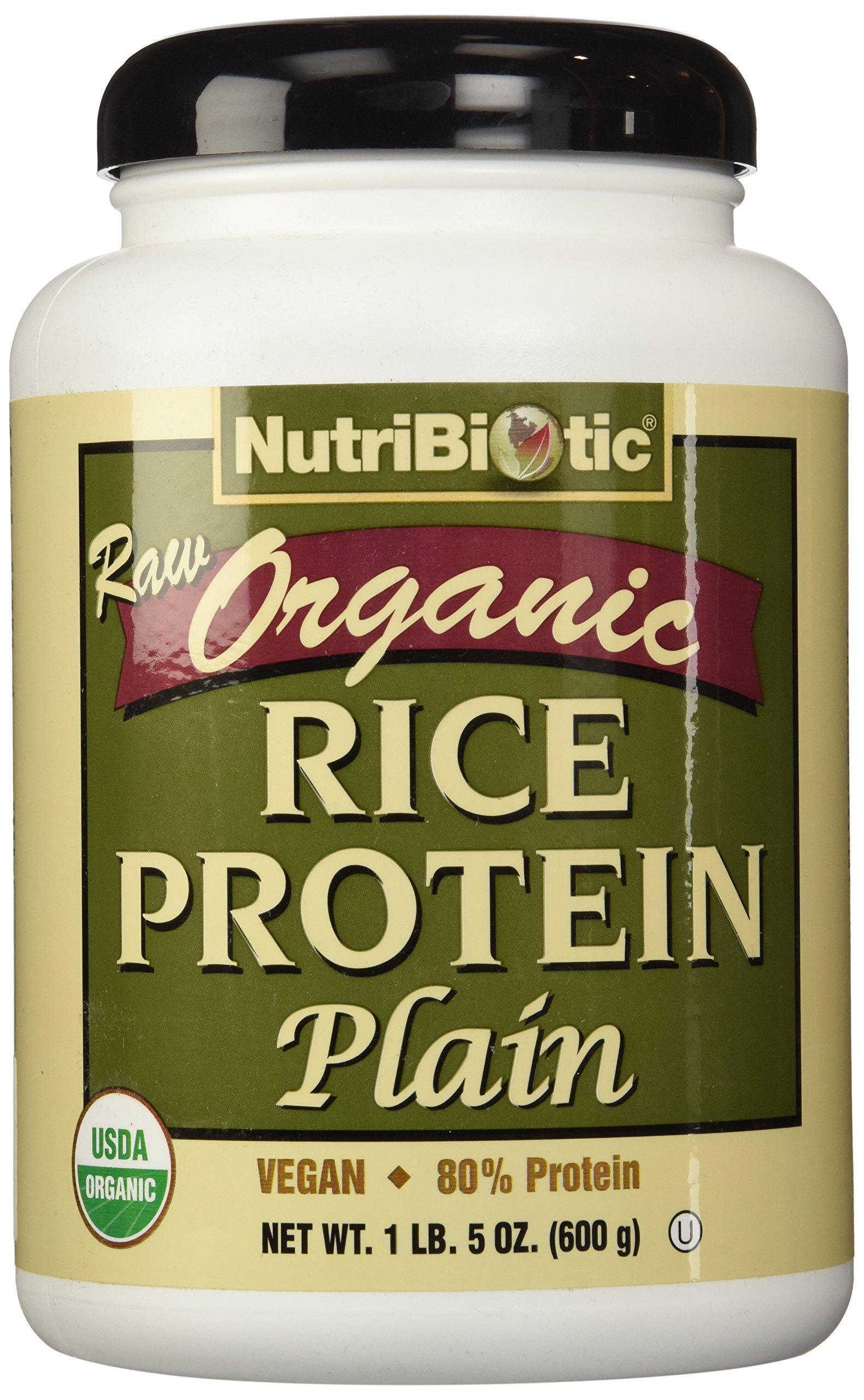 Nutribiotic, Rice Protein Plain Organic, 21 Ounce