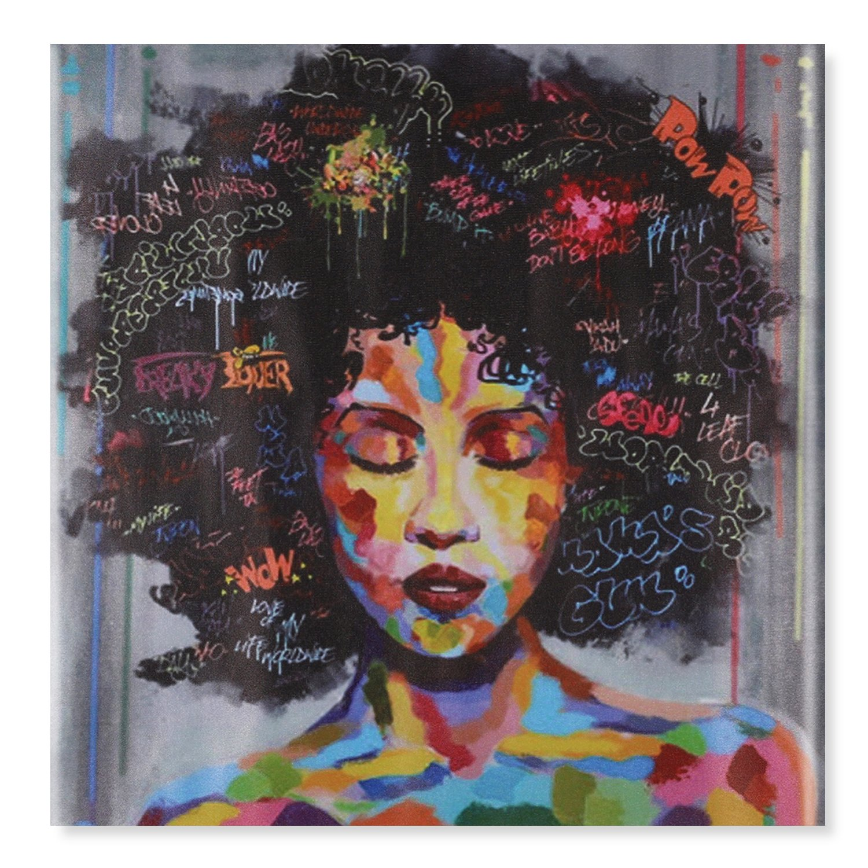 Raybre Art® 100cm x 100cm Impresión sobre Lienzo sin marco - Mujeres ...