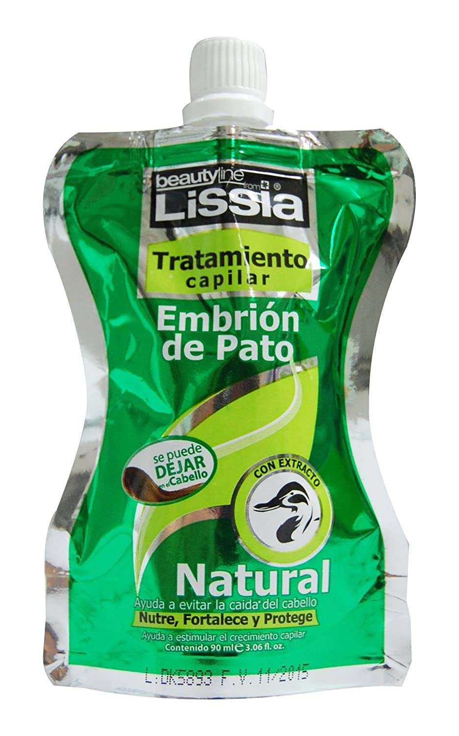 Amazon.com : LISSIA-Embrion de Pato Sobres/ sachet Tratamiento anti caida 90ml/3.06oz * Embryo Duck Ttm. : Beauty